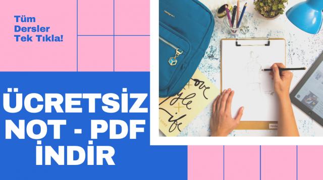 NOT & PDF indir